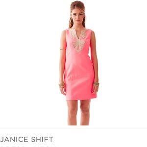 Lilly Pulitzer | Salmon Janice Shift Dress NWT ✨